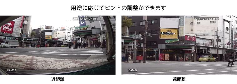 近距離にピントを合わせた映像と長距離にピントを合わせた映像
